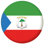 Equatorial Guinea Country Flag 25mm Pin Button Badge